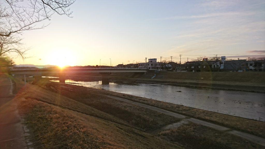 00_暖気亭前釈迦堂川の夕陽DSC_4820