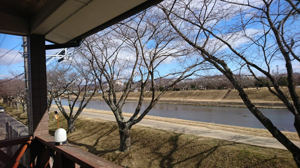 72_テラスから見た釈迦堂川桜並木DSC_4751