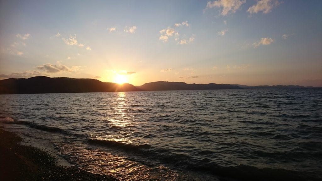 猪苗代湖の夕陽DSC_0789