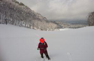 裏磐梯スキー場と妻