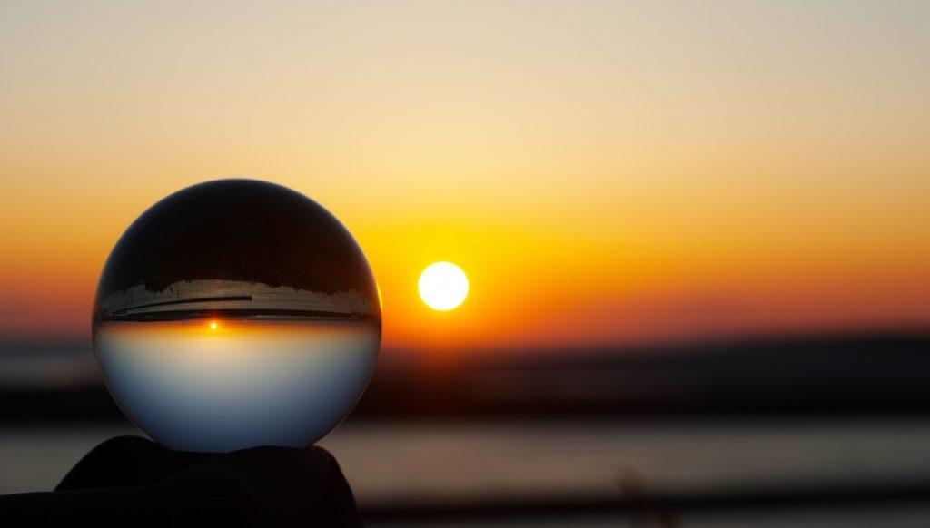 水晶と太陽