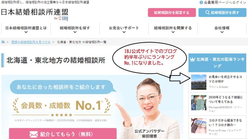 2021_0427_IBJ北海道東北ブログランキングNo.1